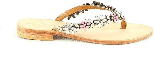 Manoukian Flache Sandale mit An und Ausziehen Damen8