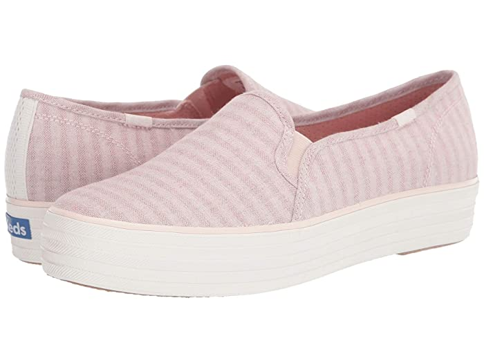 Keds  Triple Decker Subtle Chambray Stripe (Rose) Womens Shoes