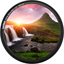 waka 58mm MC UV Filter - Ultra Slim 16 Layers Multi Coated Ultraviolet Protection Lens Filter for Canon Nikon Sony DSLR Camera Lens