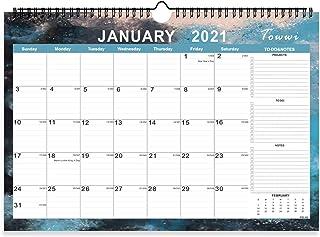 TOWWI Monthly Academic 2 Year Wall Calendar, 2021 - 2022 Desk Calendar, 17in x 12in Wirebound Calendar