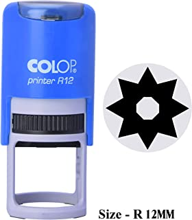 PrintValue Self Inking Unit Spider Web Icon Colop R12 Round Stamp with Advanced Durability