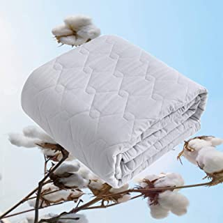 ENOKAWA 敷きパッド ベッドパッド 綿100% シングル ワッフル調 リバーシブル ベッドシーツ オールシーズン 快適 吸湿速乾 通気 抗菌防臭 防ダニ 肌に優しい 丸洗いOK 100*205cm グレー