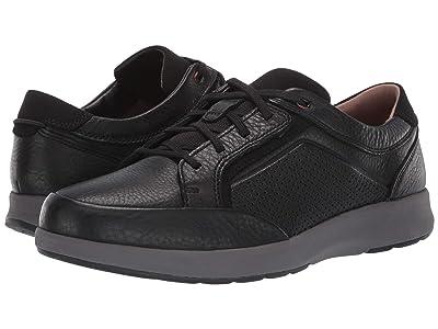 Clarks Un Trail Form (Black Tumbled Leather) Men