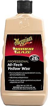 Meguiar's Mirror Glaze 26 Professional Hi-Tech Yellow Car Wax Liquid 473ml M2616: image