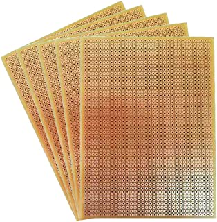 Unique India General Purpose PCB Perforated Zero PCB Test Board (6 x 4-Inch) -5 Pieces