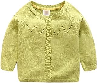 Infant Baby Boys Girls Pure Button Sweater Long Sleeve Cotton Cute Soft Knit Bolero Cardigan Sweater