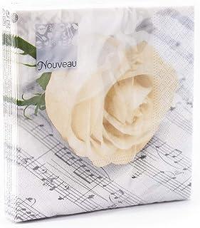 Nouveau Classic Rose - Servilletas de Papel, Multicolor, 25