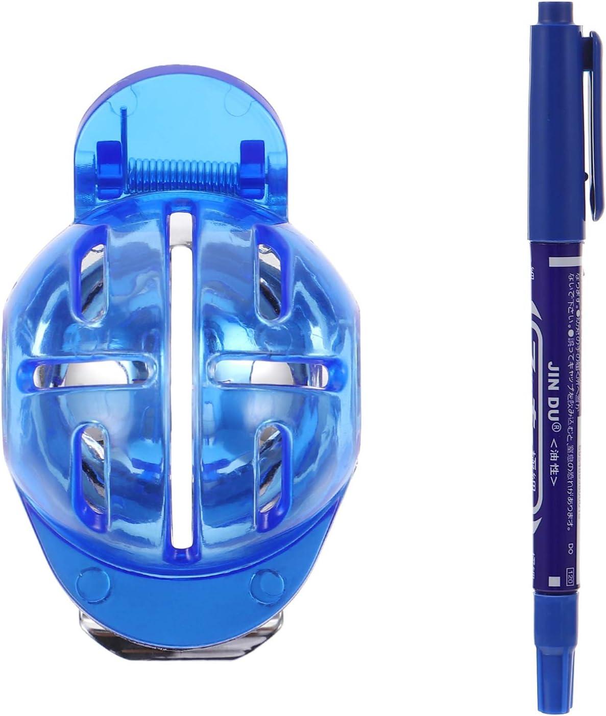 BESPORTBLE 6 Piezas de Línea de Bolas de Golf Liner Ball Rotuladores Plantilla Liner Ball Line Drawing Tool con Rotulador Ball Alineation Putting Tool Azul