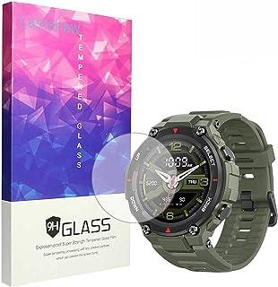 متوافق مع Amazfit T-Rex واقي الشاشة ، Blueshaw 9H واقي شاشة الزجاج المقوى لـ Amazfit T-Rex Smart watch (3 Pack)