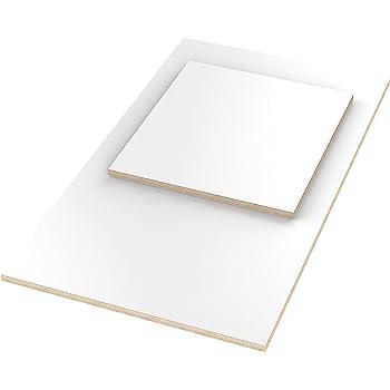 12mm Multiplex Zuschnitt wei/ß melaminbeschichtet L/änge bis 200cm Multiplexplatten Zuschnitte Auswahl 110x40 cm