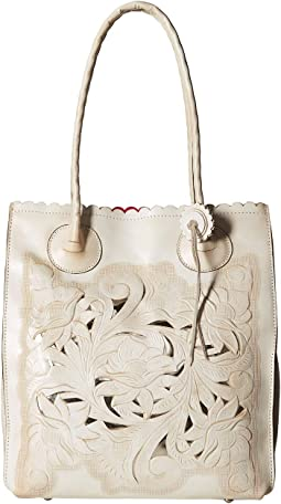 Waxed Tooled Cavo Tote