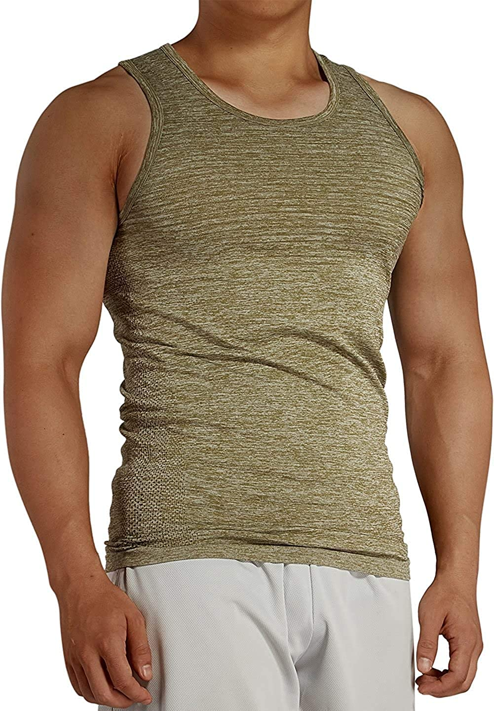 Komprexx New Shipping Free Tank Top 2021 spring and summer new Men Gym - Shirt Stretchy Sleeveless FIT Slim