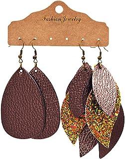 Paar übertriebene Punk Acryl Blatt Ohrringe Nachtclub Mode Ohrringe