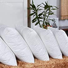 JDX Hotel Quality Hollow Fiber Filler Cushion (16X16 Inches; White) -Set of 5