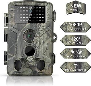 DIGITNOW! 16MP Cámaras de Caza 1080P FHD Impermeable,Gran Angular de 120° y 42pcs IR LED Infrarrojo Visión Nocturna con hasta 80FT/25m,Sendero Juego Camera, Cazar Vigilancia de la Fauna