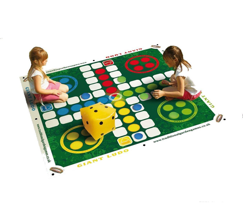 Traditional Garden Games- PARCHIS Gigante, Color Verde (58): Traditional Garden Games Giant Ludo: Amazon.es: Juguetes y juegos