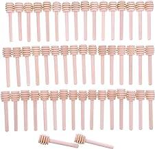 JZK 50 X Cucchiaini bastoncini miele legno piccoli mini spargimiele 8 cm cucchiai legno per miele per vasetti miele per bomboniere ringraziamento matrimonio battesimo