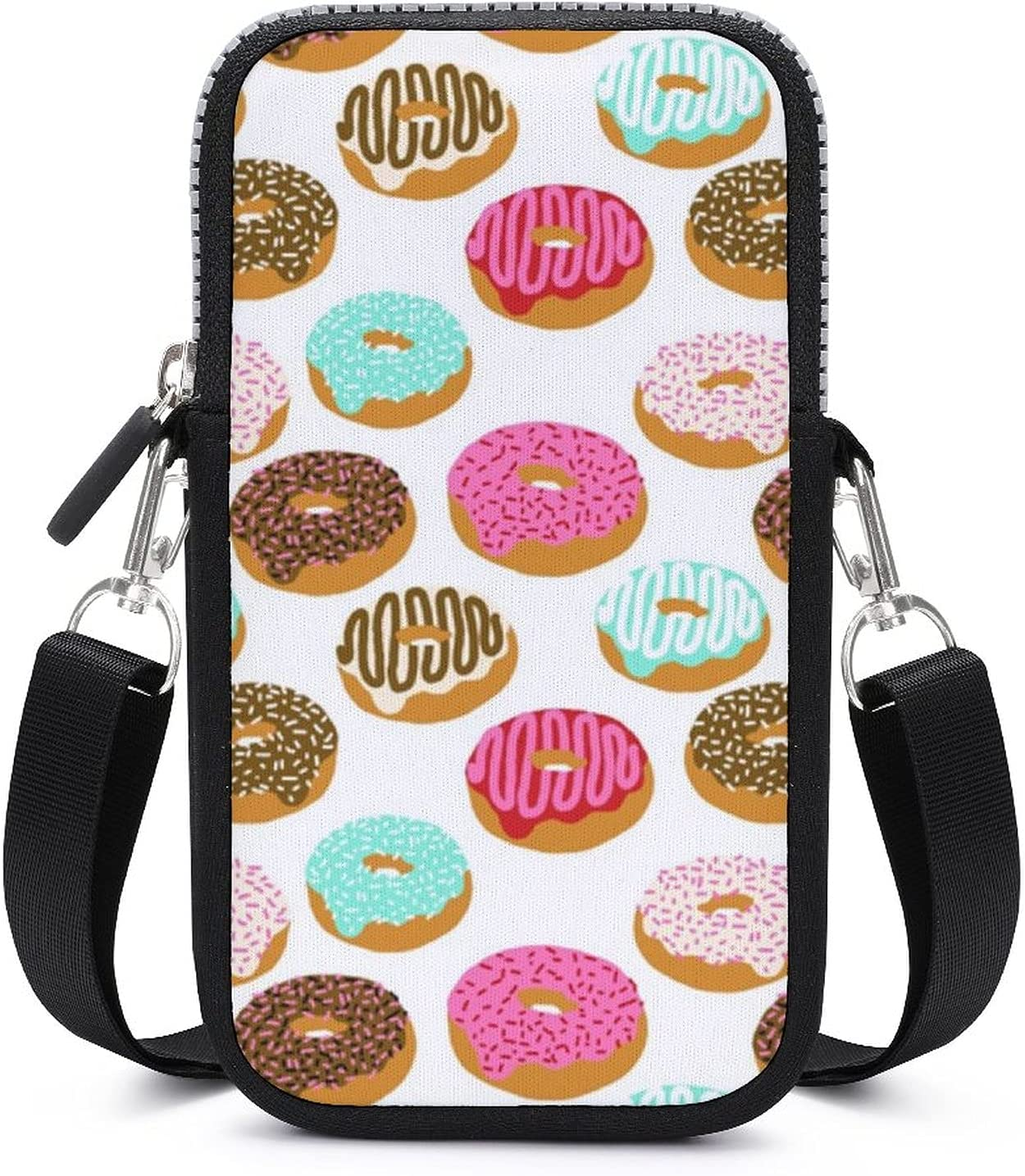 Cell Phone Excersise Multifunctional Holder - Passport, Credit Card Adjustable Shoulder Strap, Wristlets Bag Sweet Donut Wristlet Convertible Cross Body Bag