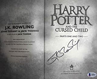 J.K. Rowling Harry Potter Signed Book Certified Authentic Beckett BAS COA