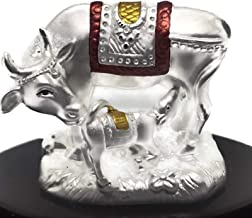 Balaji LLC Kamdhenu Cow Pure Silver (99.5%) Statue/Idol/Murti (Large)