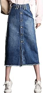 Best high waist long denim skirt Reviews