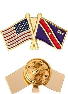 Scotty Sigma Phi Epsilon USA/Fraternity Flag Lapel Pin Enamel Greek Formal Wear Blazer Jacket sig ep