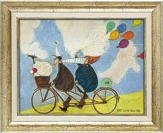 アートパネル アートフレーム 壁掛け サムトフト おしゃれ 絵画 絵 アートボード インテリア イギリス作家 ビー フー ユー ビー アートボード 新築祝い 玄関 モダン ほっこり 癒し 大きい 大型サイズ 犬 イヌ いぬ ドッグ 自転車 ST-08026