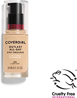 COVERGIRL Outlast All-Day Stay Fabulous 3-in-1 Foundation, 1 Bottle (1 oz), Classic Ivory Tone, Liquid Matte Foundation and SPF 20 Sunscreen (packaging may vary)