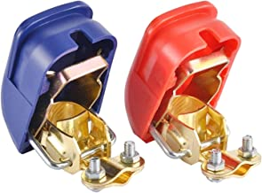 DGZZI 2PCS Heavy Duty Quick Release Car Battery Clamps Terminals with Red and Blue Cover