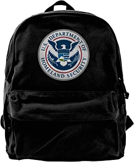 Department of Homeland Security Canvas Backpack Laptop Backpack Schoolbag