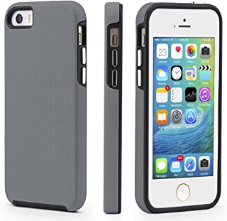 CellEver iPhone 5/5s/SE Case, Dual Guard Protective Shock-Absorbing Scratch-Resistant Rugged Drop Protection Cover for iPhone 5/5S/SE (Slate)