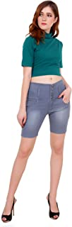 Jannon Slim Fit Short for Women with 5 Button