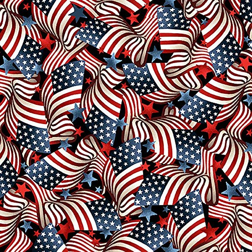 American Muscle Patriotic Flag Fabric 5340-78 from Studio E by The Yard