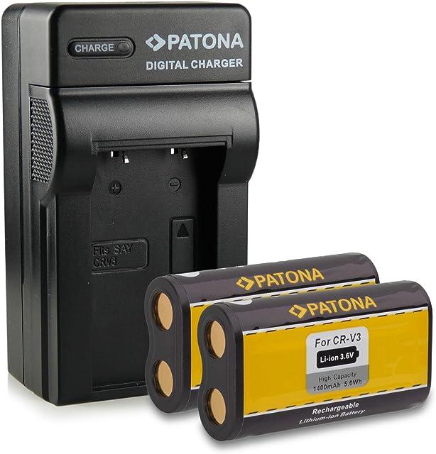 Bundle - 4en1 Cargador + 2x Batería CR-V3 para Kodak EasyShare C300 | C310 | C315 | C330 | C340 | C360 | C433 | C503 | C530 | C533 | C603 | C633 | C643 | C653 | C663 | C703 | C743 | C875 | CD33 | CD40 | CD43| CX4200 | CX4210 | CX4230 | CX4300 | CX4310 | CX6200 | CX6230 | CX6330 | CX6445 | CX7220 | CX7300 | CX7310 | CX7330 mucho más…