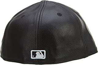black leather yankee fitted
