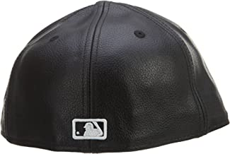 New Era 59Fifty Leather New York Yankees Black Fitted Cap