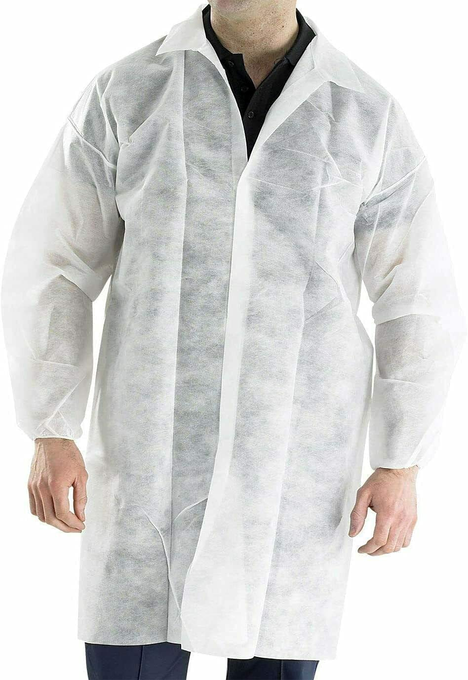 MEDICAL NATION Case of 30 Polypropyl White Disposable Lab Coats Max 90% OFF Super sale