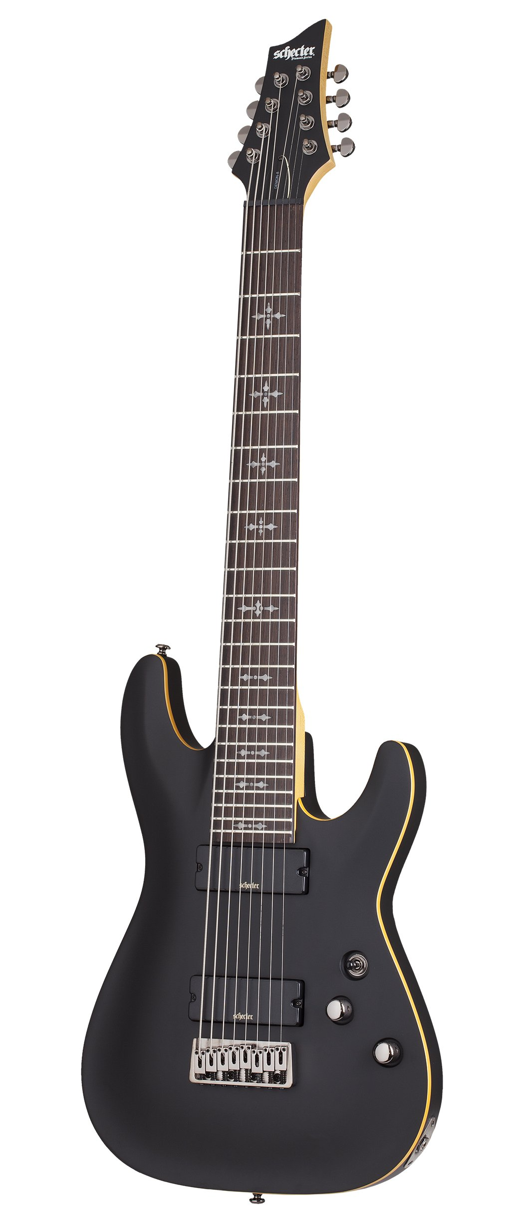 Cheap Schecter 8 String Solid-Body Electric Guitar Aged Black Satin (3663) Black Friday & Cyber Monday 2019