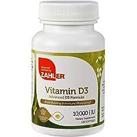 120 Count Zahler Vitamin D3 Bone Building & Immune Modulating Vitamins