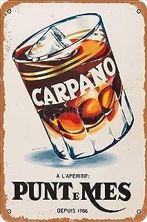 Carlena 1786 Carpano Punt Mes Depuis Metal Art Tin Sign Vintage Foil Poster For Shop Bar Home Wall Decor 8X12Inch