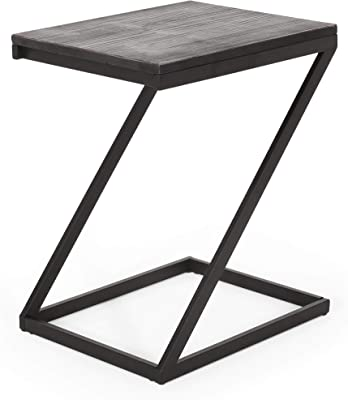 Christopher Knight Home Riva Side Table, Gray, Pewter
