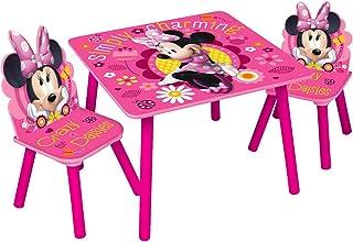 Disney, Minnie Mouse 85897-s–Juego de Mesa + 2sillas, MDF, Rosa, Talla única