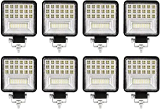 "LIGHTFOX 8x 4"" inch CREE LED Work Lights Spot Flood Square Work Lamp Off Road 4x4 Reverse 3 Year Warranty"