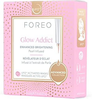 FOREO Glow Addict UFO-Activated Mask, 6g 6 count