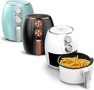 Friteuse à air chaud 3 l, minuterie jusqu'à 30 minutes, 1200 W, sans huile et sans graisse, 90-210 °C, Cool-Touch, Air Fry...