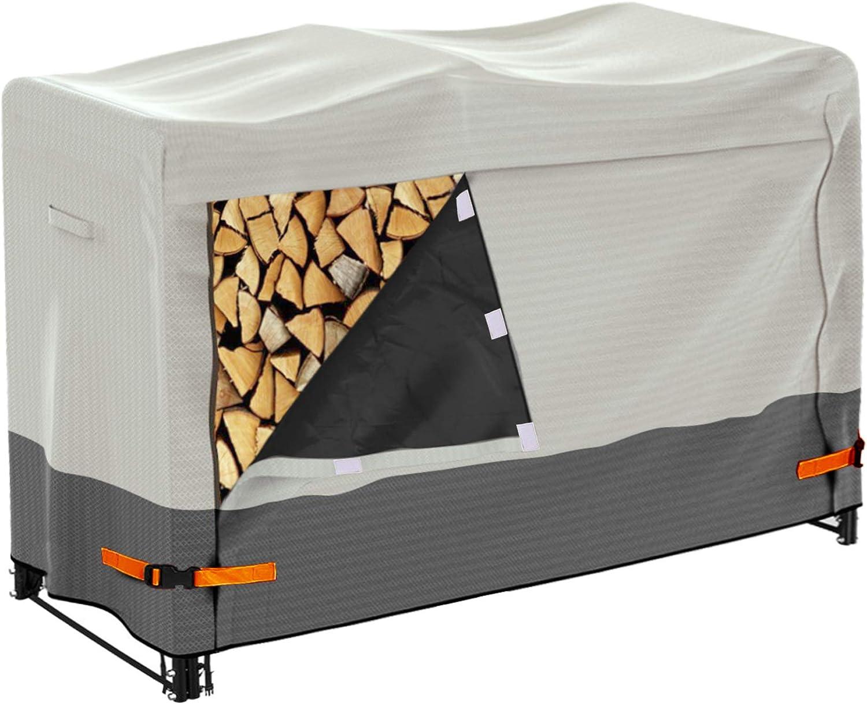 Aaaspark Firewood Rack Max 83% OFF Cover Max 43% OFF 4 Heavy Du 600D Log Ft