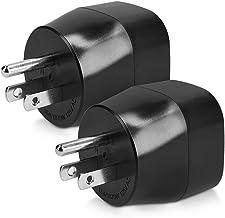 kwmobile 2X Adaptador de Viaje para EEUU Tipo B - Adaptadores de Enchufe schuko - Conector para enchufes USA Japón Tailandia - Travel Adapter Negro