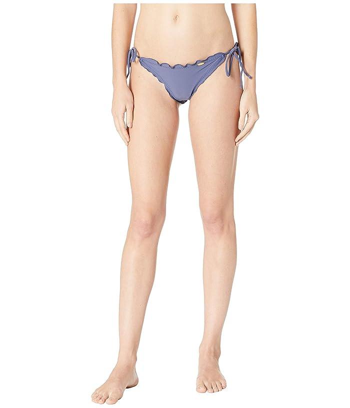Luli Fama Cosita Buena Wavey Brazilian Tie Side Ruched Back Bikini Bottom (Azulejo) Women