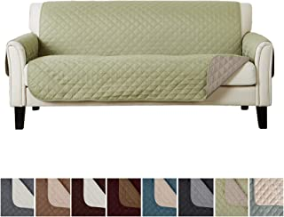 Home Fashion Designs Reversible Sofa Protector. Furniture Protector for Living Room with Secure Straps. Furniture Protectors for Kids, Dogs and Pets. (74