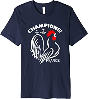 Champions Cups France Soccer Football 2018 World Tee Shirt